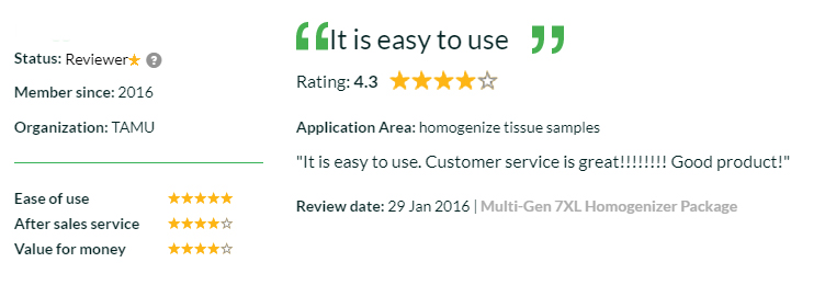 Multi-Gen 7XL Tissue Homogenizer Review